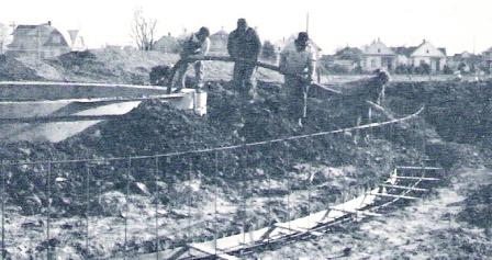 The final phase of contruction.