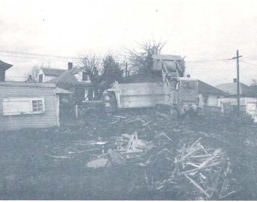 Demolition of structure started in January 1966 for the park site.
