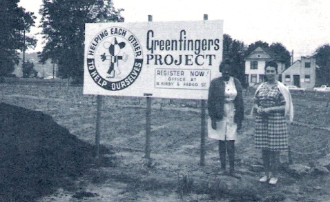 The Green Fingers Program [see the logo on the sign?] gave out plots foe the season to garden and included instructions for planting, seed packets and plants.
