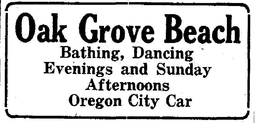 Oak Grove Beach, 1917-1929 – Lost Oregon