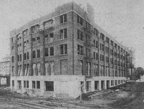 Blake McFall Building under construction, 1915.